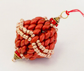 Beadwork SuperDuo Red Bauble Christmas Decoration Kit